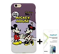 "Disney Mickey And Minnie Cover Case for Iphone6 4.7"" Free with Headfore Screen Protector for Iphone6 4.7"""