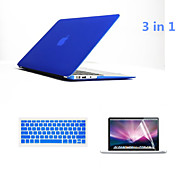 """3 in 1 Full Body Hard Cases with Keyboard Flim and HD Screen Protector for Macbook Pro 15.4"""" (Assorted Colors)"""
