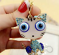 Cute Rhinestone Cat Keychain(Random Color)