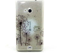 Dandelion Pattern Glitter TPU Cell Phone Soft Shell For Nokia Lumia N535 / Microsoft Lumia 535