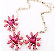 Cusa Bohemia Candy Color Flowers Necklace