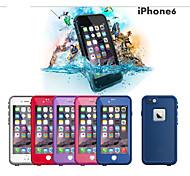 """la vie de plastique étanche preuve couverture de cas particulier desigh de protection pour Apple iPhone 6 4.7 """"(de couleur assortie)"""
