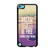 Personalized Phone Case - Dream Explore Be Free Design Metal Case for iPod Touch 5