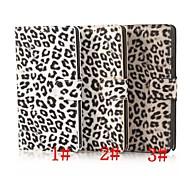 Caso 5,7 pulgadas modelo del leopardo de cuero de lujo para Samsung nota 4 (colores surtidos)