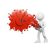 pag®morden effet 3D horloge murale 19,4 * 15.75 pouces / 49,3 * 40cm