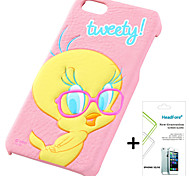 Disney Tweety Cover Case for Iphone5S/5G Free with Headfore Screen Protector for Iphone 5S/5G