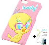 disney caso de la cubierta tweety gratis con protector de pantalla para el iphone headfore 5s / 5g iphone5s / 5g