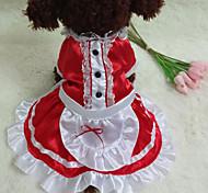 Red/Black Cosplay Terylene Dresses For Dogs