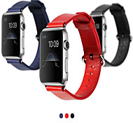 Rock 38mm Genuine Leather with Metal Buckles Sport Band/Strap for IWatch