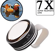 Universal 7x Clip-on Telephoto Camera Lens For Mobile Phone iPhone 4 4S 5 5S 6 Plus Samsung HTC Nokia Xiaomi