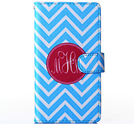 Blue and White Anchor Pattern PU Leather Full Body Case with Stand for Multiple Samsung Galaxy E5/E7/J1/J5/J7