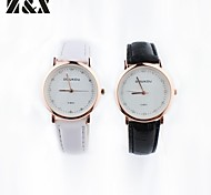 Couple's Fashion Leisure Rhinestone Quartz Belt Watch (Assorted Colors)
