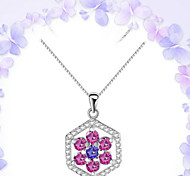 925 Authentic Sterling Silver Pendant Simple Hollow South Korea Explosion Models Short Chain Fresh Clavicle Diamond