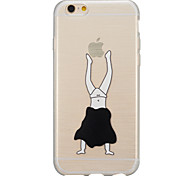 Inverted gymnastics translucent ultra-thin iPhone6plus soft rubber bumpers wiredrawing shell material support