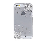 Cherry Pattern Metal Jewelry Back Case for iPhone 5C