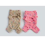 Brown/Rose Lovely Pet Apparel Polar Fleece Pants & Hoodies For Dogs