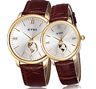 Couple Montre Tendance Quartz Bande Charme
