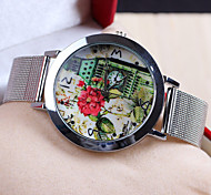 Lady's Fashion Casual Watch London Tower Pattern Slim Steel Strap