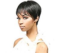 жен. Парики из искусственных волос Без шапочки-основы Короткий Прямые Черный Карнавальный парик Парик для Хэллоуина Карнавальные парики