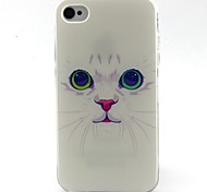 Kitty Pattern TPU Material Soft Phone Case for iPhone 4/4S