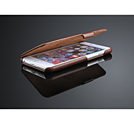 Genuine leather flip case for iphone 6 plus