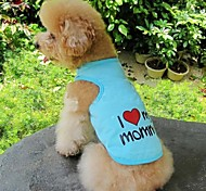 FUN OF PETS® 4 Colors I Love My Mommy/Daddy Pet Lovely Doggy Vest Dog Clothes(Assorted Colours and Sizes)