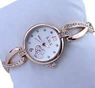 Women's Watch Fashion Diamante Heart Shape Pattern Bracelet Watch Cool Watches Unique Watches