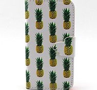 Pineapple Pattern PU Material  Case for iPhone 4/4S