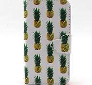 ananas modello cassa PU per iPhone 4 / 4S