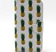 Ananas-Muster PU-Leder-Tasche für iPhone 4 / 4S