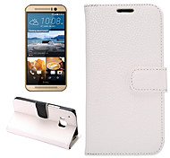 Litchi Leather Case with Card Slots and Holder for One M9