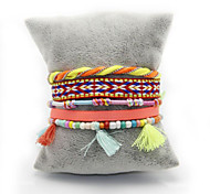 Exquisite Color Multilayer Pure Hand-made Woven Bracelets