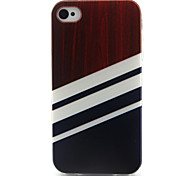 Wood  Pattern TPU Phone Case for iPhone 4/4S