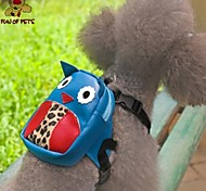 Dog Backpack Blue Dog Clothes Summer Cartoon Cute