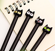 Cartoon Black Cat Black Ink Gel Pen(1 PCS)