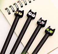 Cartoon schwarze Katze schwarze Tinte Gelschreiber (1 PC)