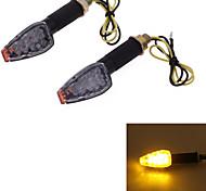 motocicleta amarilla 14 llevó convertir dc12v señal luminosa bombilla lente luz intermitente (2 piezas)