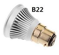 Focos LED MR16 E14 / GU5.3(MR16) / B22 / E26/E27 3W 1 COB 270-300 LM Blanco Cálido / Blanco Fresco DC 12 V