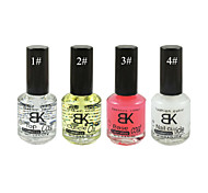 BK Nails Care Polish Series (18ML,1#:Top Coat; 2#: Cuticle Oil ; 3#:Base Coat;4#: Nail Cuticle)