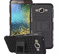 Heavy Duty Hybrid Case Impact Rugged Silicone PC Armor Cover Case For Samsung Galaxy E7/E5(Assorted Colors)