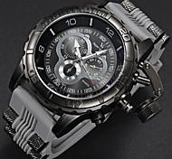Men's Military Watch Fashion Black Design Rubber Strap