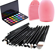 20pcs Brushes Set Eyeshadow Eyeliner Brush Tool+28Colors Ultra shimmer Eyeshadow Palette +1PCS Brush Cleaning Tool
