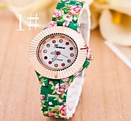 relógios das mulheres as novas senhoras da forma do relógio flores relógio de quartzo com ligação diamante acrílico