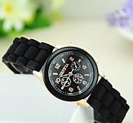 Women's European Style Fashion Cute Beautiful Silicone Watch