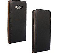 For Samsung Galaxy Case Flip Case Full Body Case Solid Color Genuine Leather Samsung Grand Prime