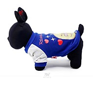 Blue/Yellow Cotton Pet Clothes  For Dogs