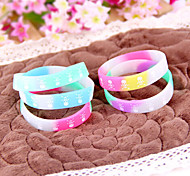 HUALUO®Luminous Personality Skull Pattern Models Silicone Bracelet(Random Color)