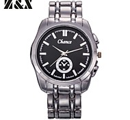 Men's Fashion Contracted Scale Business Quartz Analog Stainless Steel Wrist Watch(Assorted Colors)