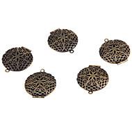 medalhões bronze redondo antigo encantos pingentes 1,06