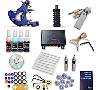 Starter Tattoo Kit 1 Machine Guns 4 Inks Power Supply Needles